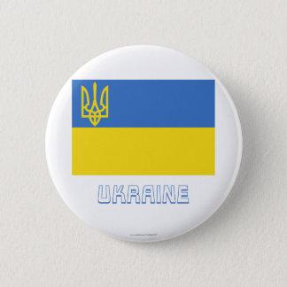 名前のウクライナの伝統的な旗 缶バッジ