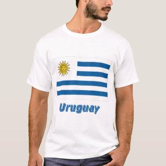 名前のウルグアイの旗 Tシャツ
