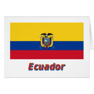 名前のエクアドルの旗 カード