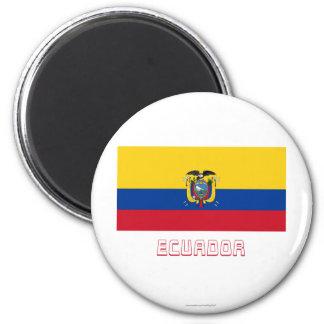 名前のエクアドルの旗 マグネット