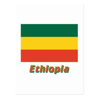 名前のエチオピアの市民旗 ポストカード