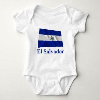 名前のエルサルバドルの振る旗 ベビーボディスーツ