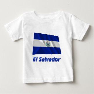 名前のエルサルバドルの振る旗 ベビーTシャツ