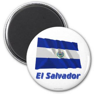 名前のエルサルバドルの振る旗 マグネット