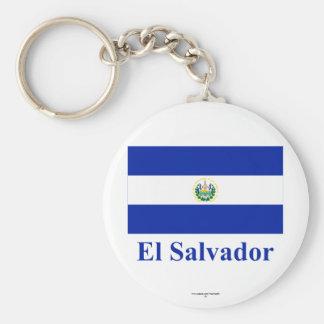 名前のエルサルバドルの旗 キーホルダー