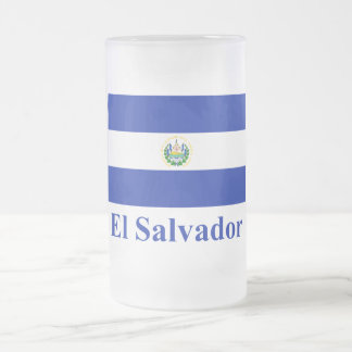 名前のエルサルバドルの旗 フロストグラスビールジョッキ