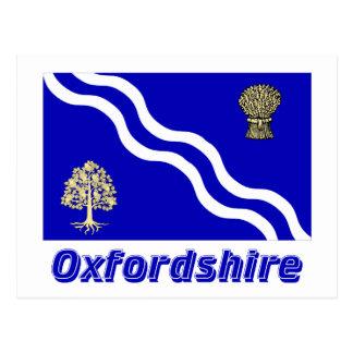 名前のオックスフォードシャーの旗 ポストカード