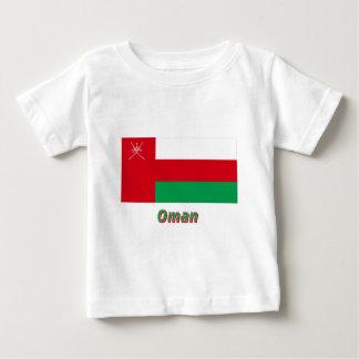 名前のオマーンの旗 ベビーTシャツ