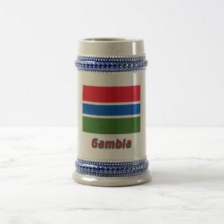 名前のガンビアの旗 ビールジョッキ