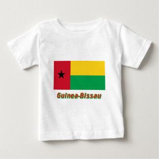 名前のギニア-ビサウの旗 ベビーTシャツ