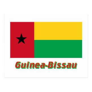 名前のギニア-ビサウの旗 ポストカード
