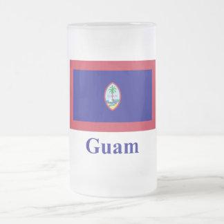 名前のグアムの旗 フロストグラスビールジョッキ