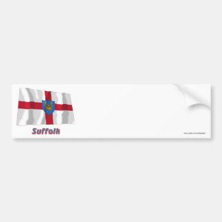 名前のサフォークStエドマンドの提案の振る旗 バンパーステッカー