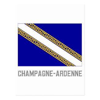 名前のシャンペンArdenneの旗 ポストカード