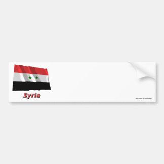 名前のシリアの振る旗 バンパーステッカー