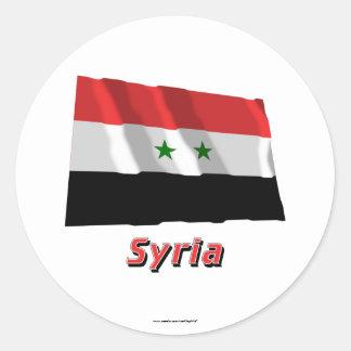 名前のシリアの振る旗 ラウンドシール