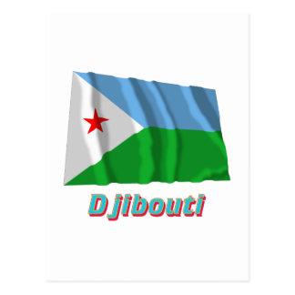名前のジブチの振る旗 ポストカード