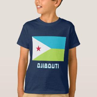 名前のジブチの旗 Tシャツ