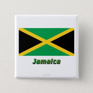 名前のジャマイカの旗 5.1CM 正方形バッジ
