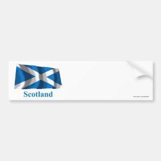名前のスコットランドSt Andrewの振る旗 バンパーステッカー