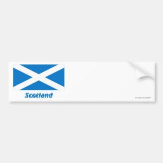 名前のスコットランドSt Andrewの旗 バンパーステッカー