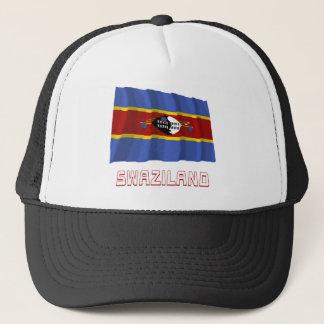 名前のスワジランドの振る旗 キャップ