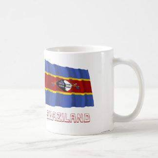 名前のスワジランドの振る旗 コーヒーマグカップ