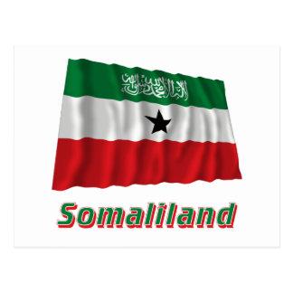 名前のソマリランドの振る旗 ポストカード