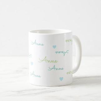 名前のタイポグラフィ愛マグをきれいにし、取り除いて下さい コーヒーマグカップ