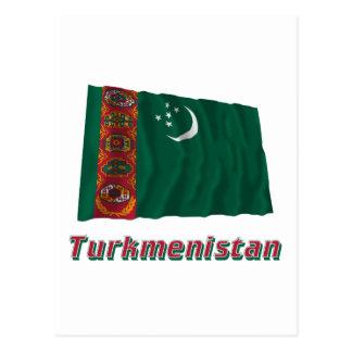 名前のタキマンニスタンの振る旗 葉書き