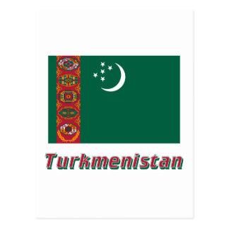 名前のタキマンニスタンの旗 はがき