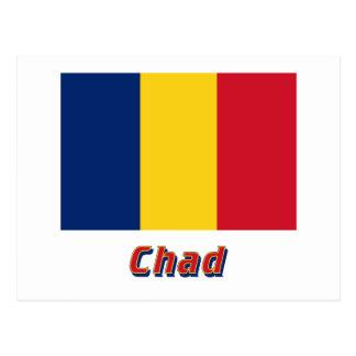 名前のチャドの旗 ポストカード