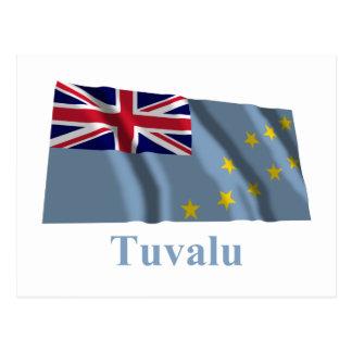 名前のツバルの振る旗 ポストカード