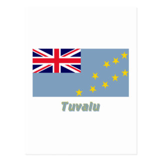 名前のツバルの旗 ポストカード