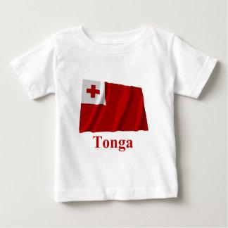 名前のトンガの振る旗 ベビーTシャツ