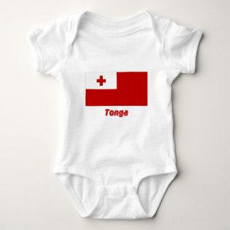 名前のトンガの旗 ベビーボディスーツ