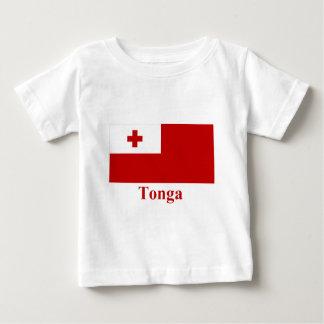 名前のトンガの旗 ベビーTシャツ