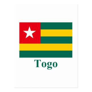 名前のトーゴの旗 ポストカード