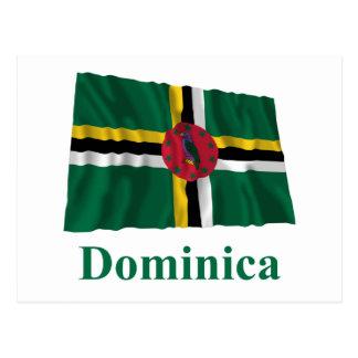 名前のドミニカの振る旗 ポストカード