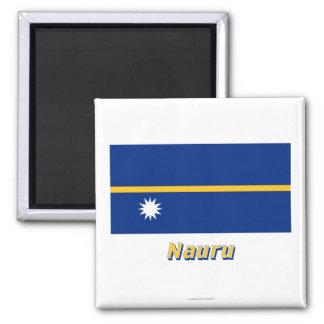 名前のナウルの旗 マグネット