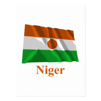 名前のニジェールの振る旗 ポストカード
