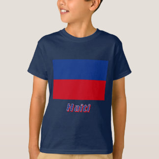 名前のハイチの市民旗 Tシャツ
