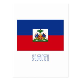 名前のハイチの旗 ポストカード