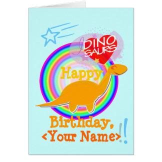 名前のハッピーバースデーのディーノのカスタム・カード カード