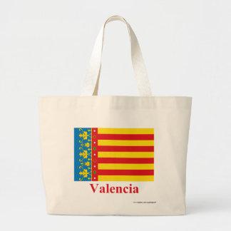 名前のバレンシアの旗 ラージトートバッグ
