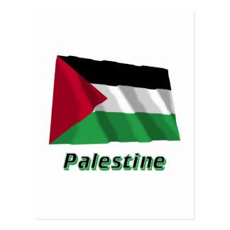名前のパレスチナの動きの振る旗 ポストカード