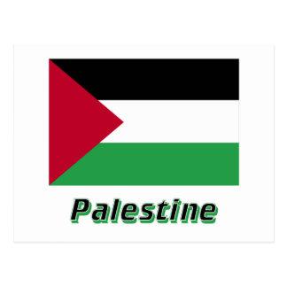 名前のパレスチナの動きの旗 ポストカード