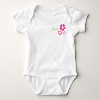 名前のフラワー・ガール-乳児 ベビーボディスーツ