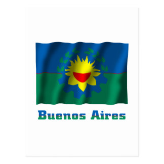 名前のブエノスアイレスの振る旗 ポストカード