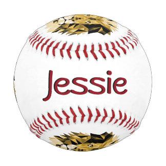 名前のブラウンのライオン 野球ボール